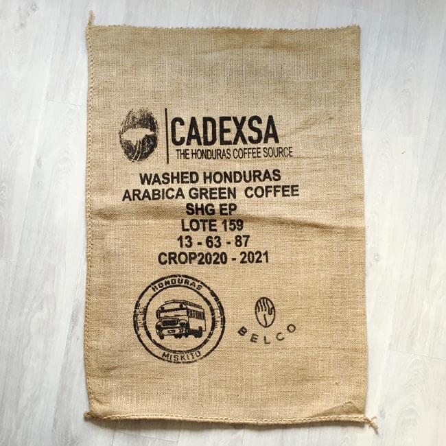 Makoha - sac en toile de jute café Miskito Noir - avant