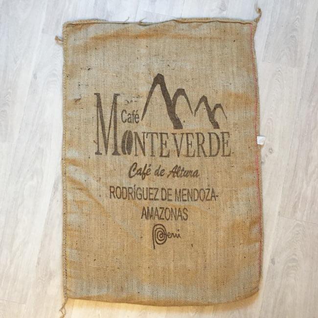 Makoha - sac en toile de jute café Monteverde - avant