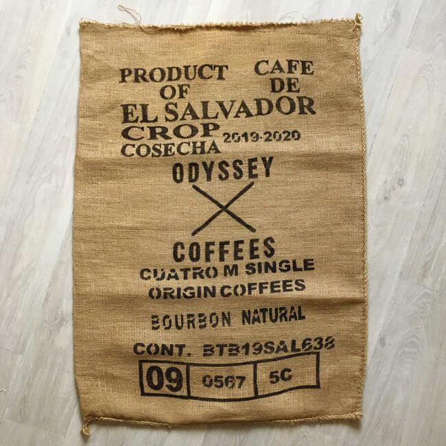 Sac toile de jute café Odyssey - avant
