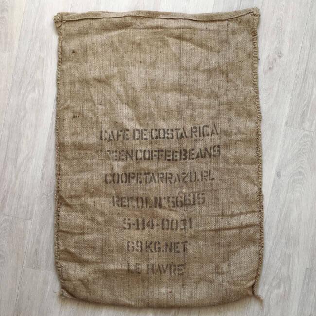 Makoha - sac en toile de jute café Pape Azulejo - arrière
