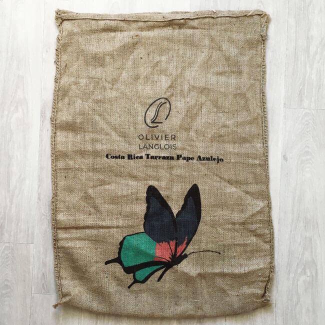 Makoha - sac en toile de jute café Pape Azulejo - avant