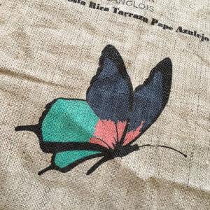 Makoha - sac en toile de jute café Pape Azulejo