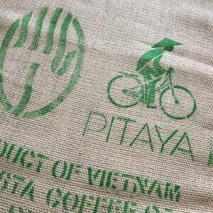 Sac toile de jute café Pitaya