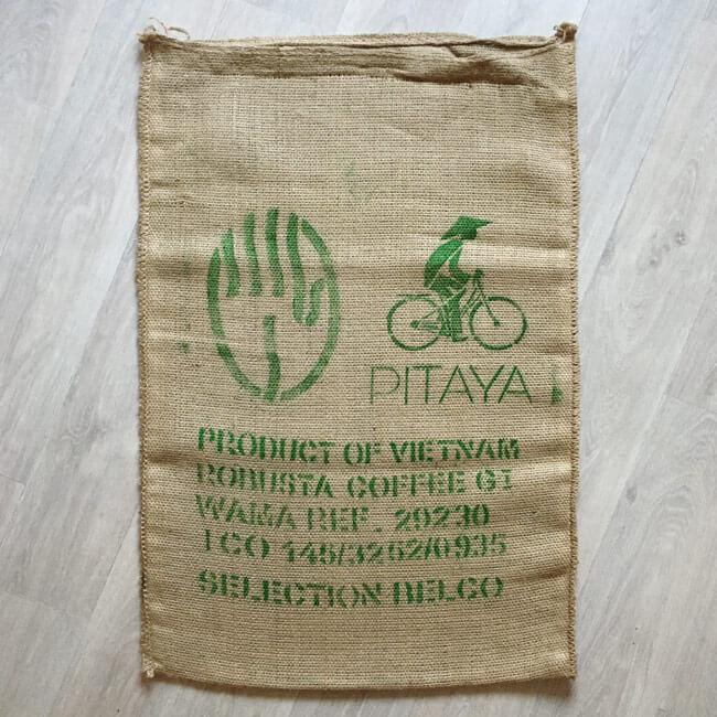 Sac toile de jute café Pitaya - avant