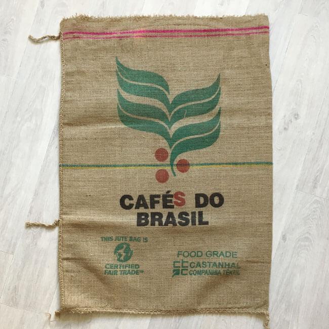 Sac toile de jute café Fazenda Santa Catarina - arrière