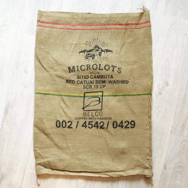 Makoha - sac en toile de jute café Sitio Cambuta - avant