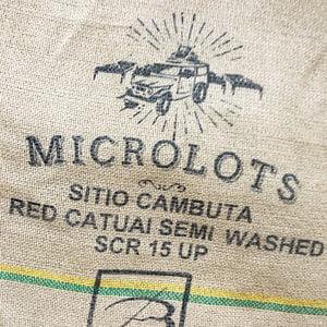 Makoha - sac en toile de jute café Sitio Cambuta