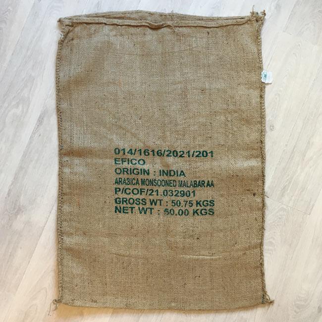 Makoha - sac en toile de jute café SNL Coffee and Spices - arrière