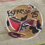 Sac toile de jute et synthétique café Espresso 25