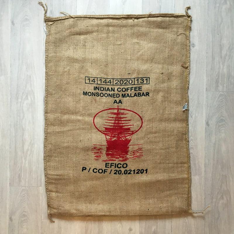 Sac toile de jute café Indian Monsooned Malabar recto