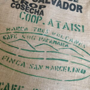 Sac de café en jute Marca Tres Volcanes
