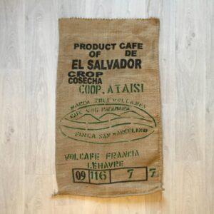 Sac de café en jute Marca Tres Volcanes recto