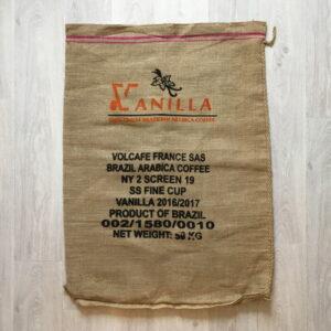 Sac toile de jute café Vanilla - avant