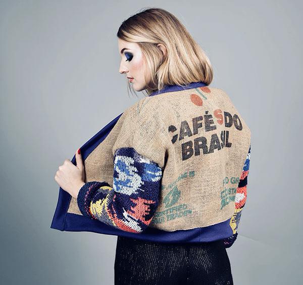 Veste Frida en sac à café par Rinvest France
